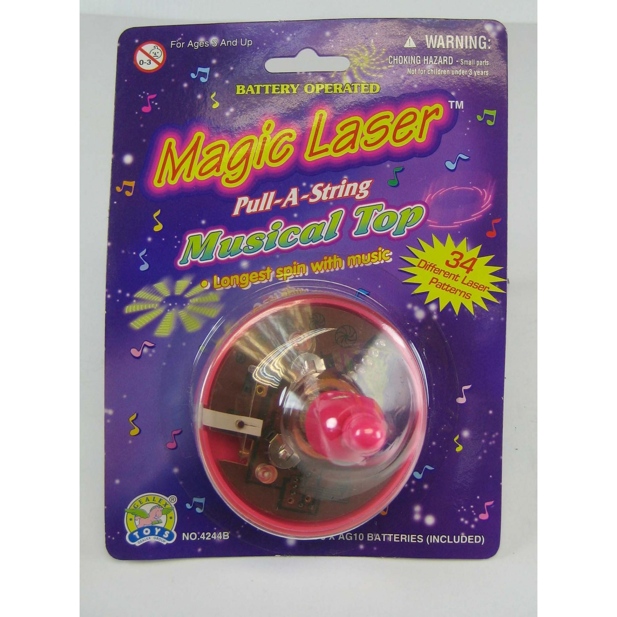 Musical Laser Pull-A String Spinner