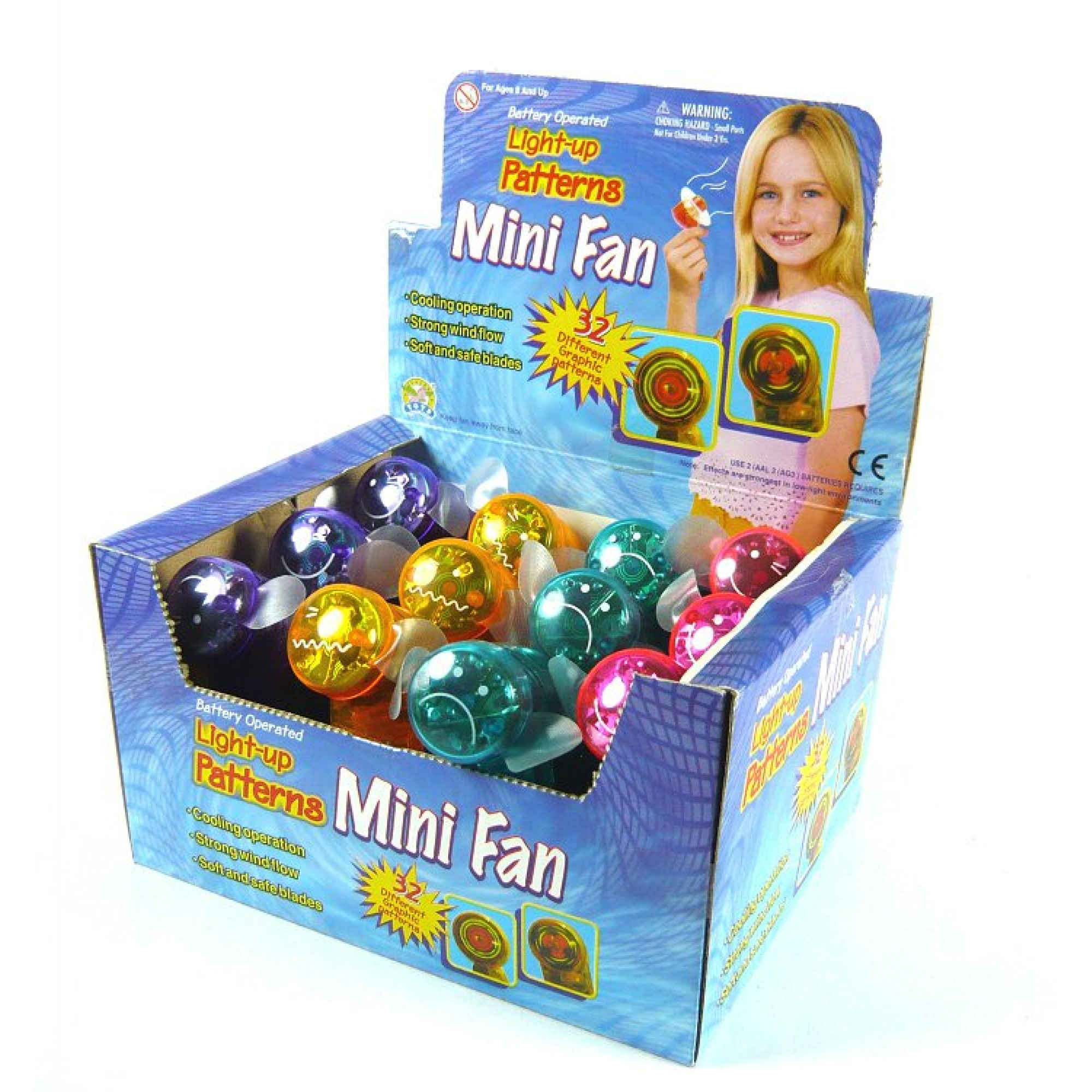 Mini Fan w/Laser Patterns