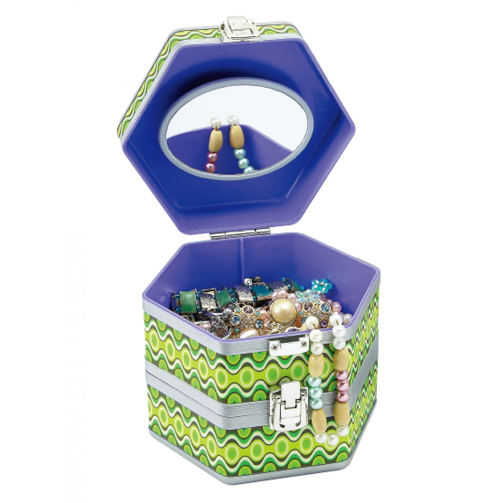 Beauty Case (Green Colour Pattern)