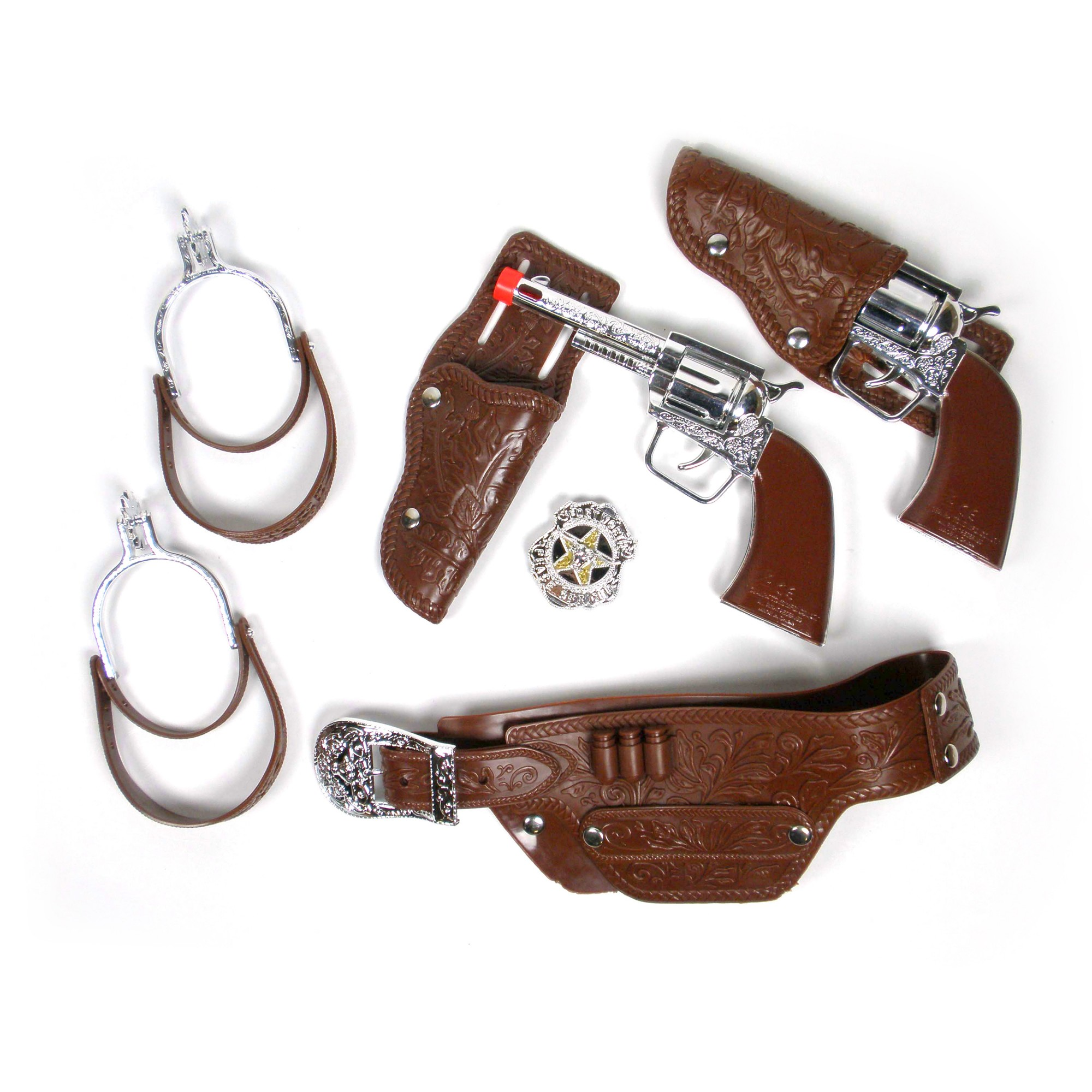 Cow Boy Deluxe Playset W/Revolvers, Belt