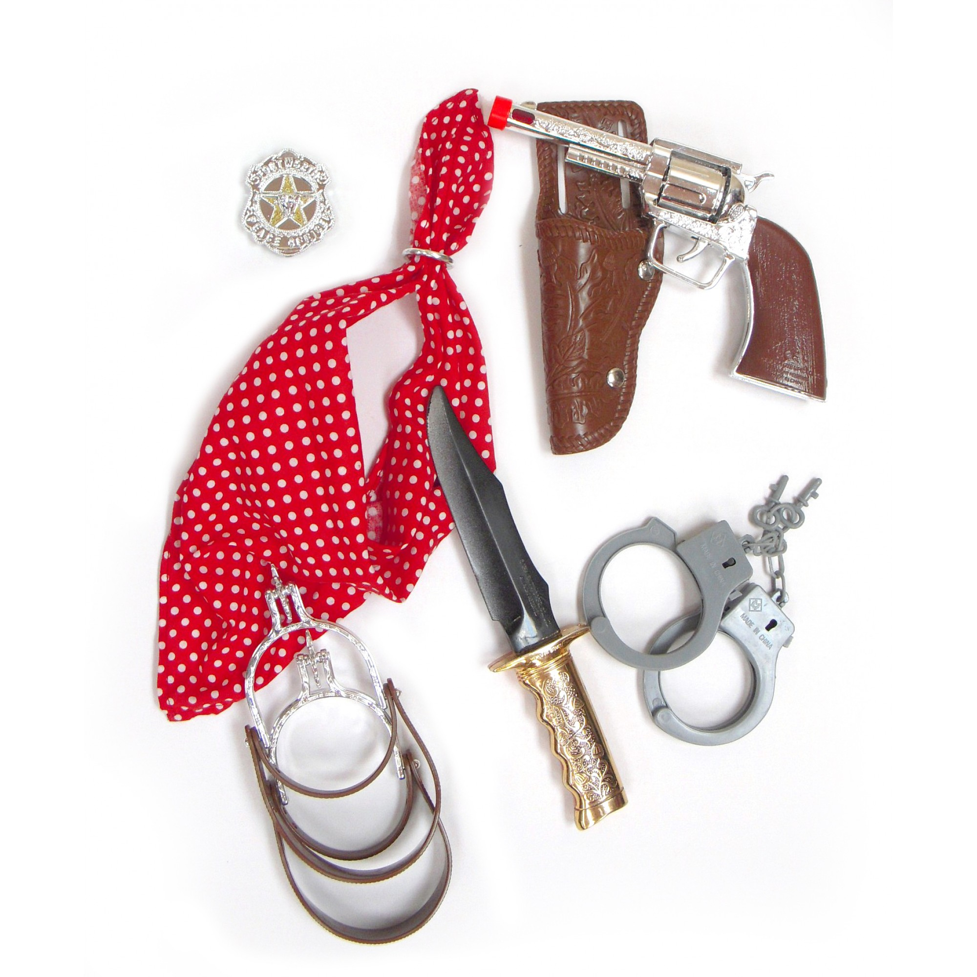 Cow Boy Deluxe Playset W/Knife, Handcuffs & Spurs