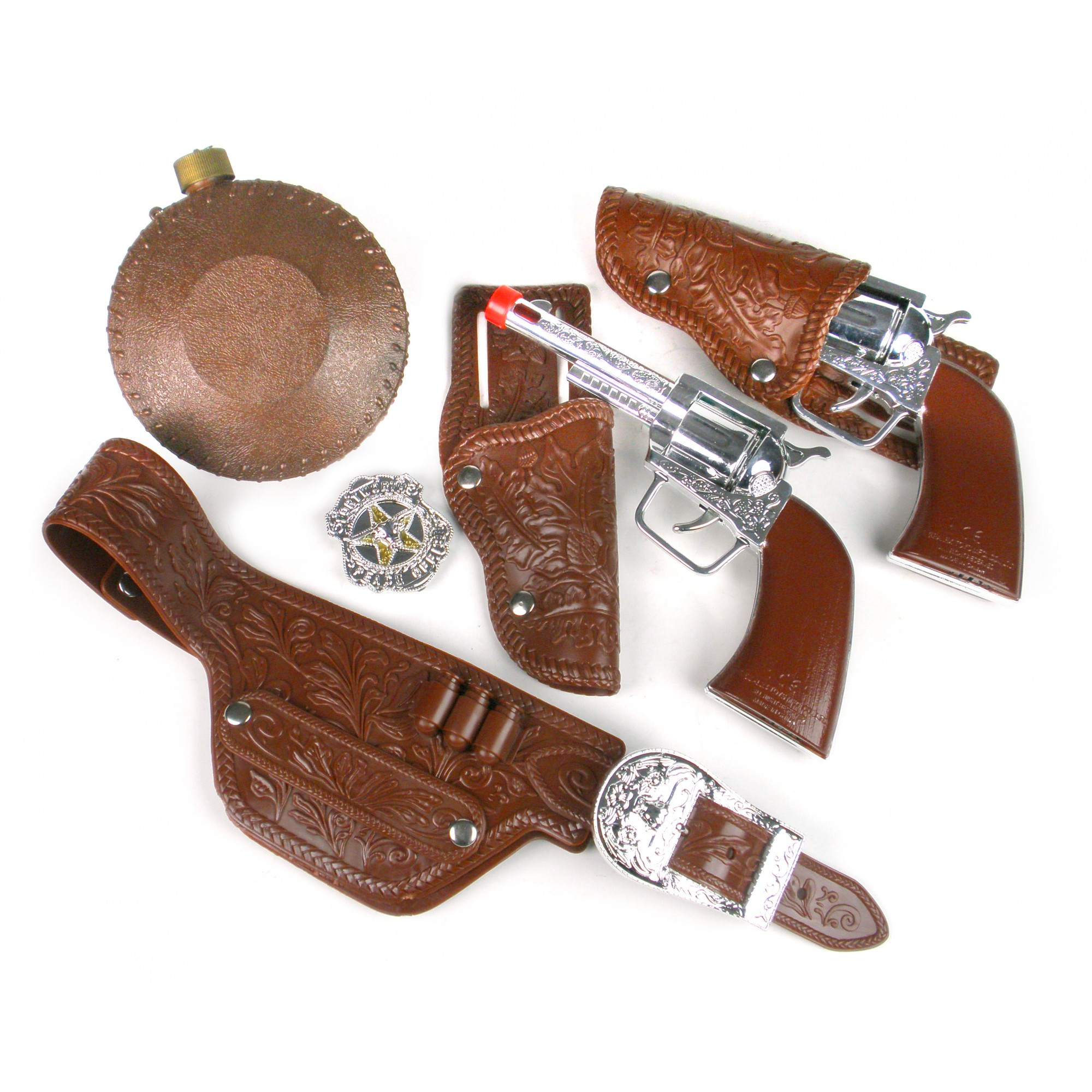 Cow Boy Deluxe Playset W/Revolvers, Canteen, Belt