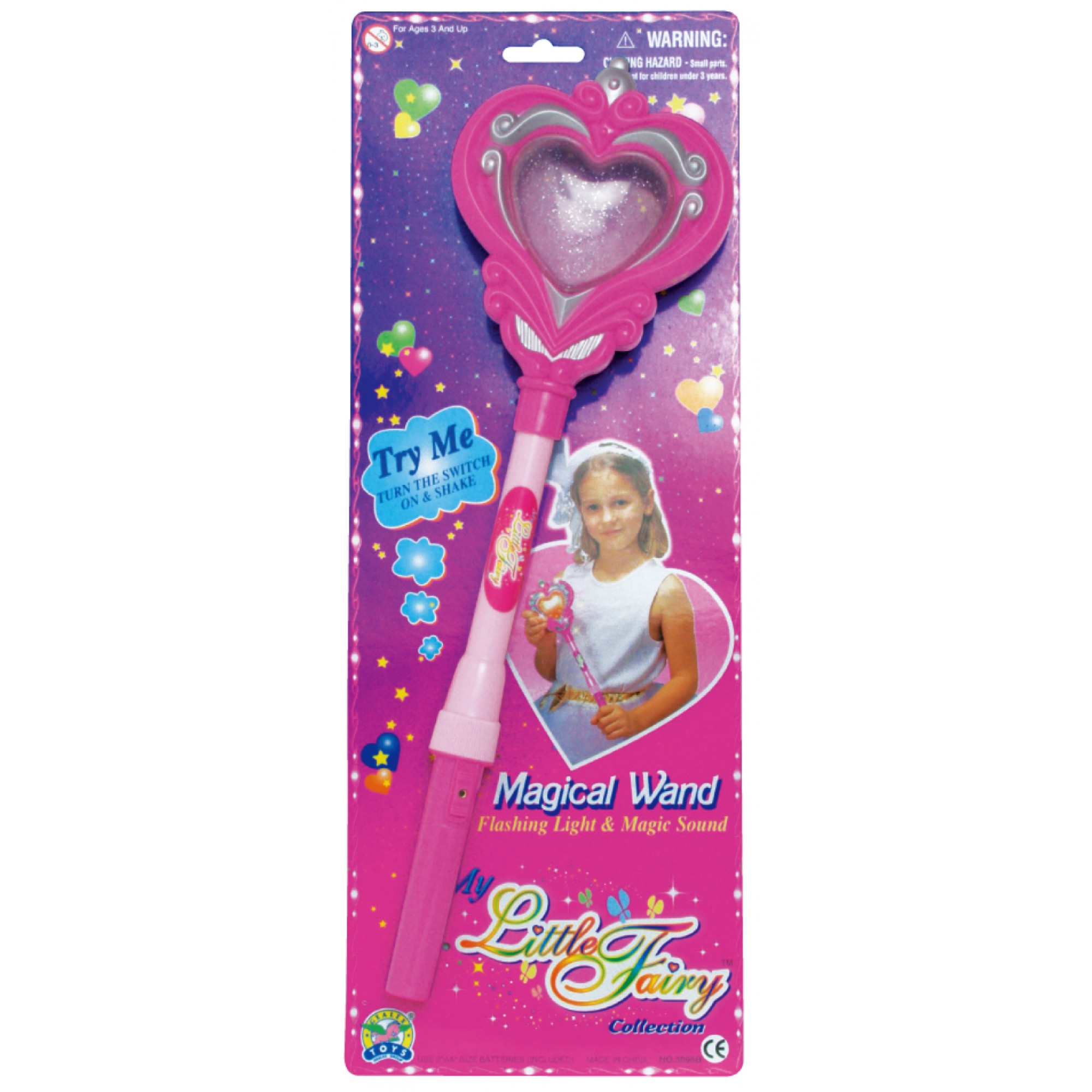 Magical Heart Wand W/Sound & Flashing Light