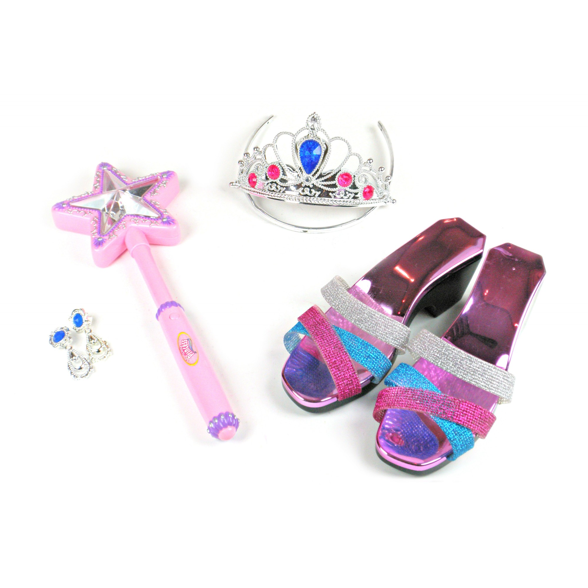 Light Up Wand & Tiara Jewel Set