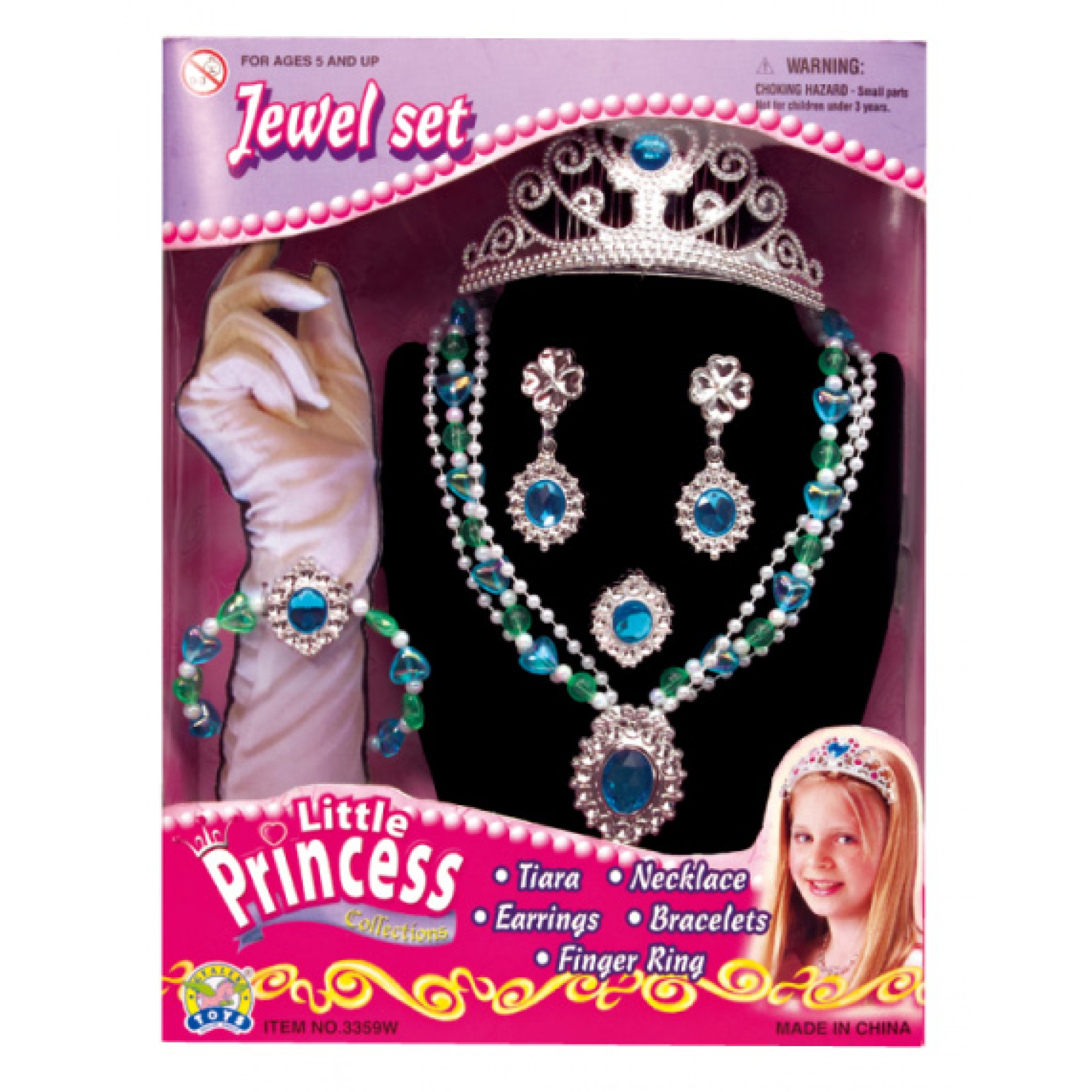 Little Princess Jewelry Set w/Tiara
