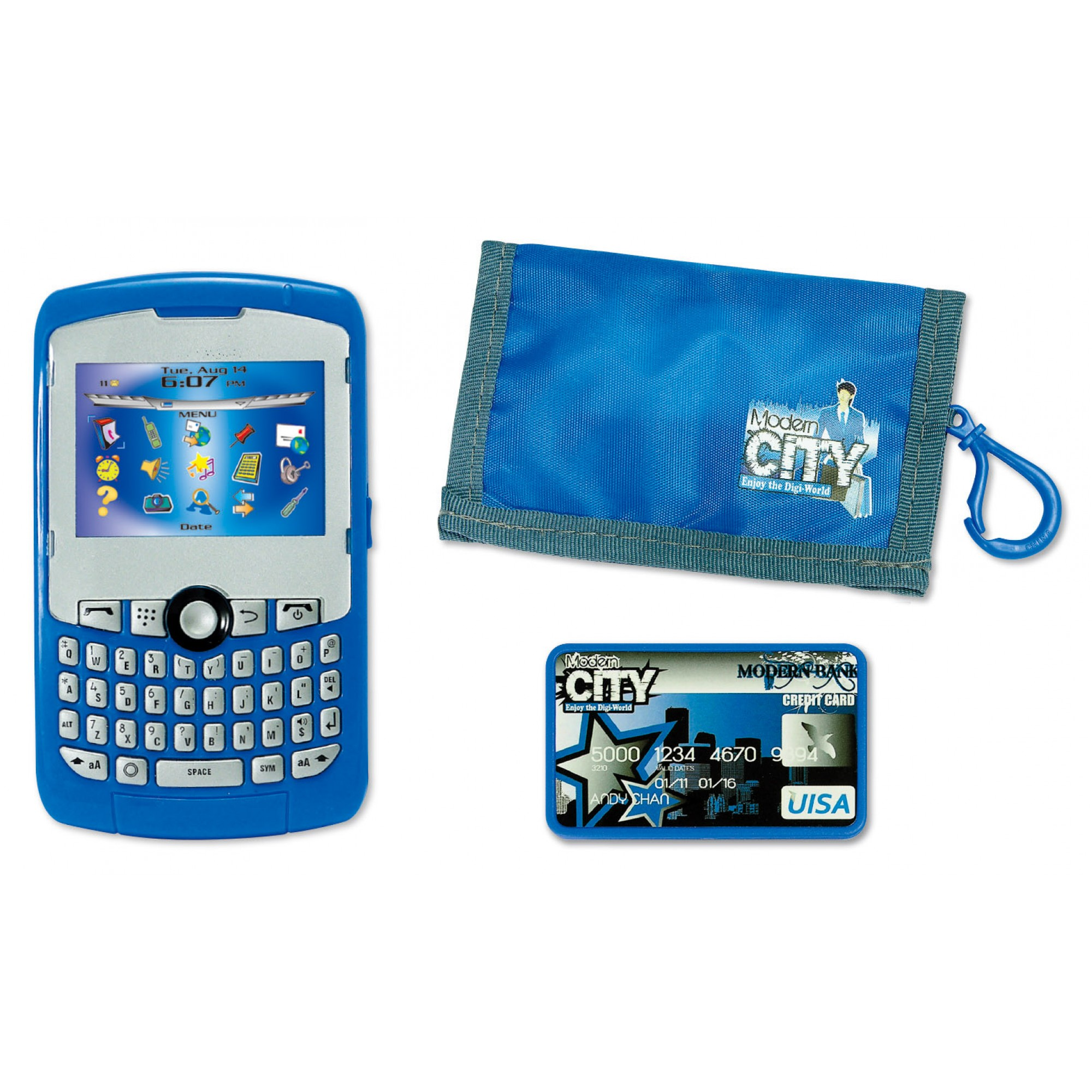 Modern City Play Phone Set w/Pouch (Boy)