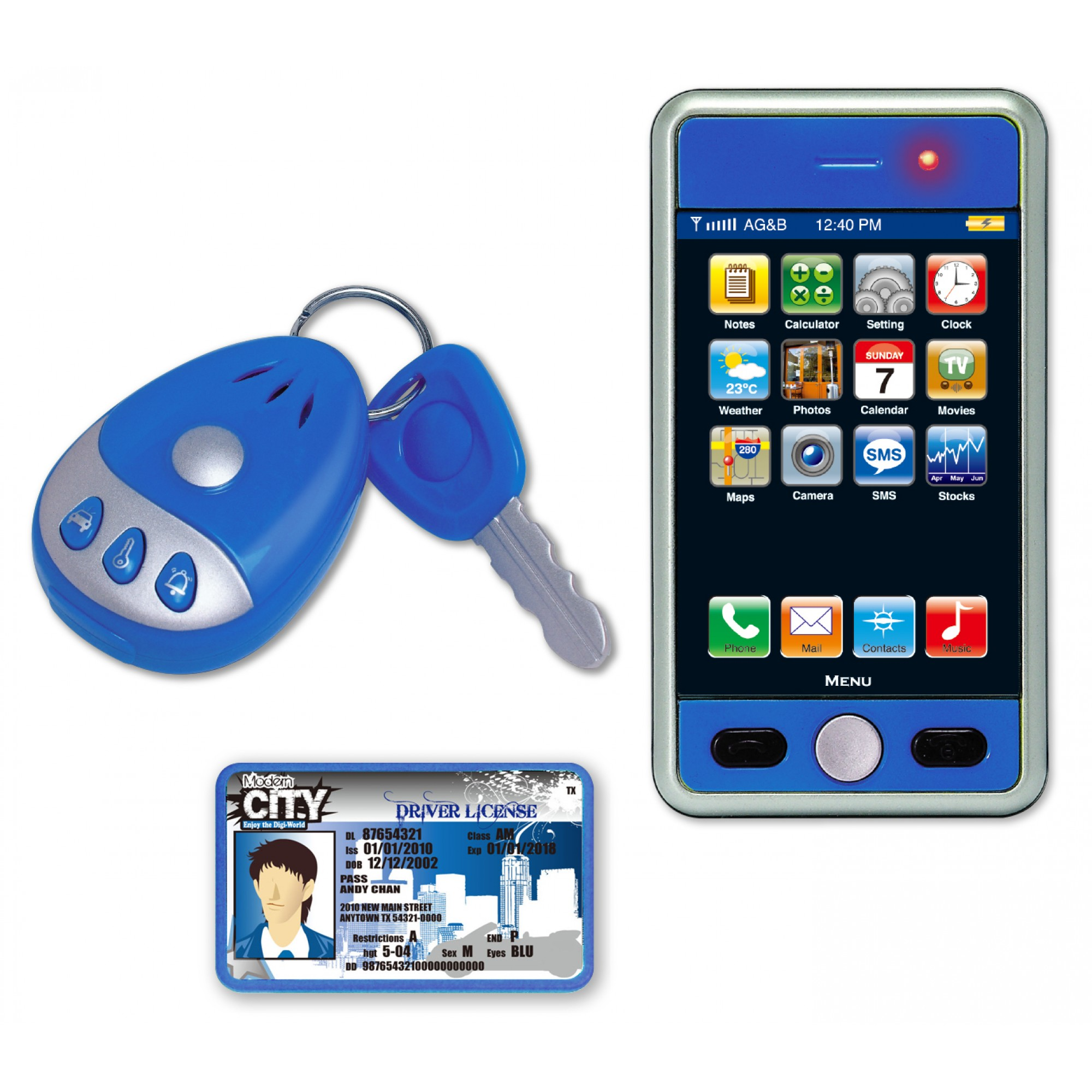 Modern City Play Phone Set w/ Car Key (Boy)