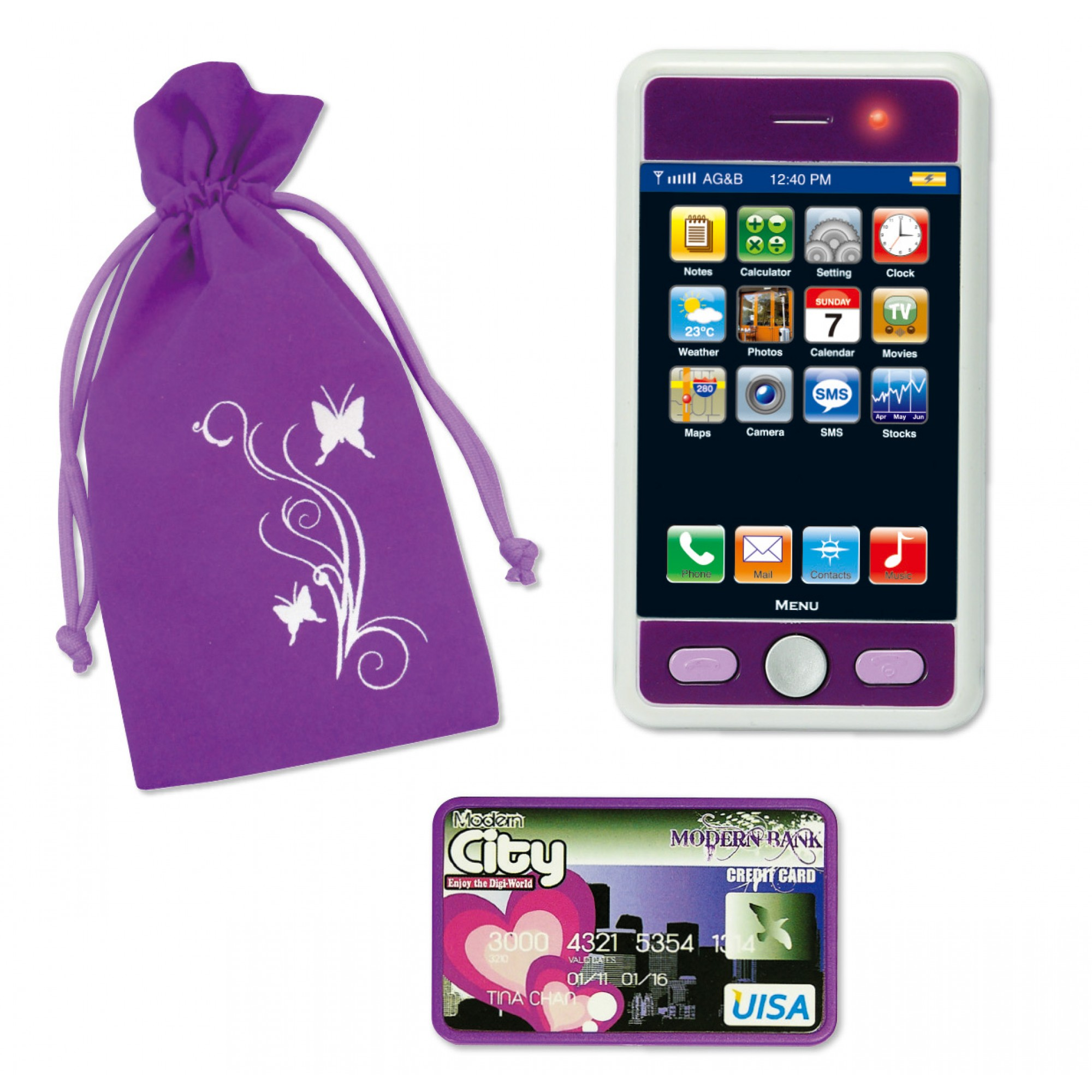 Modern City Play Phone Set w/ Bag